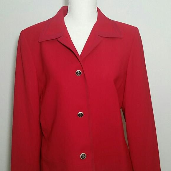 Blazer Suit Jacket Red anchor sailor button Kasper